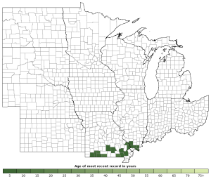 Distribution map of Cottonmouth (Agkistrodon piscivorus)