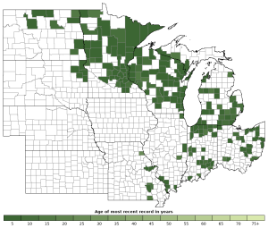 Distribution map of Wood Frog (Lithobates sylvaticus)