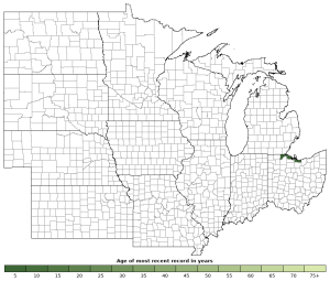 Distribution map of Lake Erie Watersnake (Nerodia sipedon insularum)